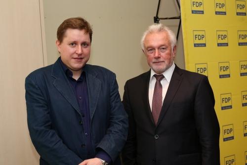 """""""Im Gespräch mit dem stellv. Vorsitzenden der FDP Wolfang Kubicki"""