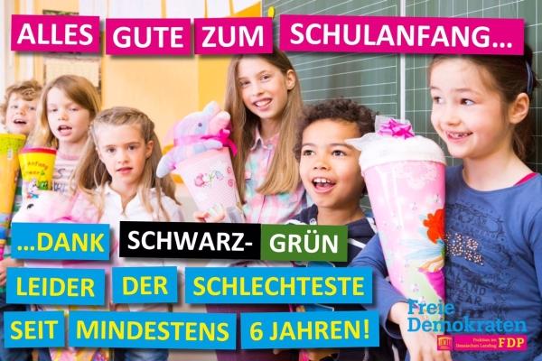 Dank Schwarz / Grün. Schlechtester Schulstart in Hessen seit 6 Jahren