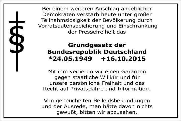 R.I.P. Grundgesetz