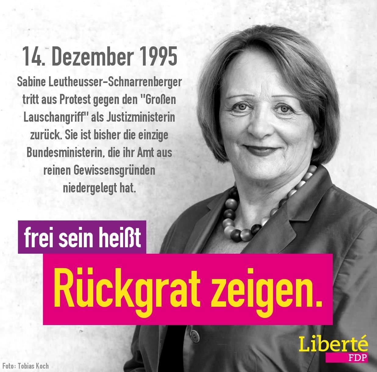 Rücktritt Leutheusser-Schnarrenberger