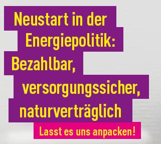 Neustart in der Energiepolitik