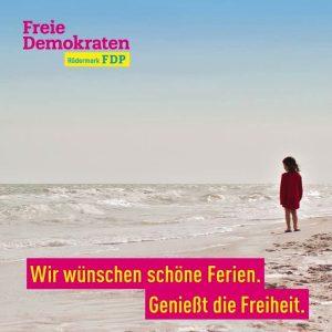 Die FDP Rödermark wünscht schöne Sommerferien