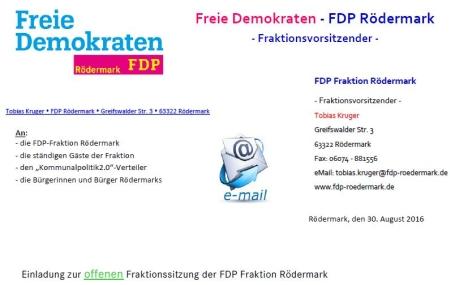 FDP Fraktionssitzung 01.09.2016