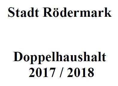 Rödermark. Haushalt 2017/2018