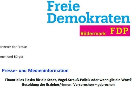FDP Erzieher. Finanzielles Fiasko?