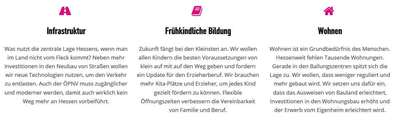Wahlprogramm der FDP Hessen zur Landtagswahl 2019