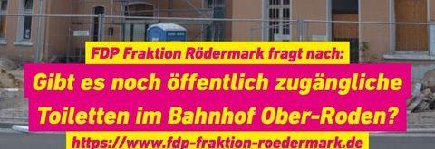 Öffentliche Toilette am Bahnhof Ober-Roden