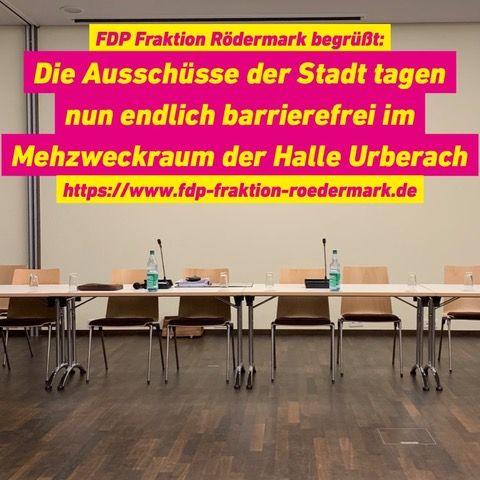 Barrierefreier Zugang zu den Ausschusssitzung