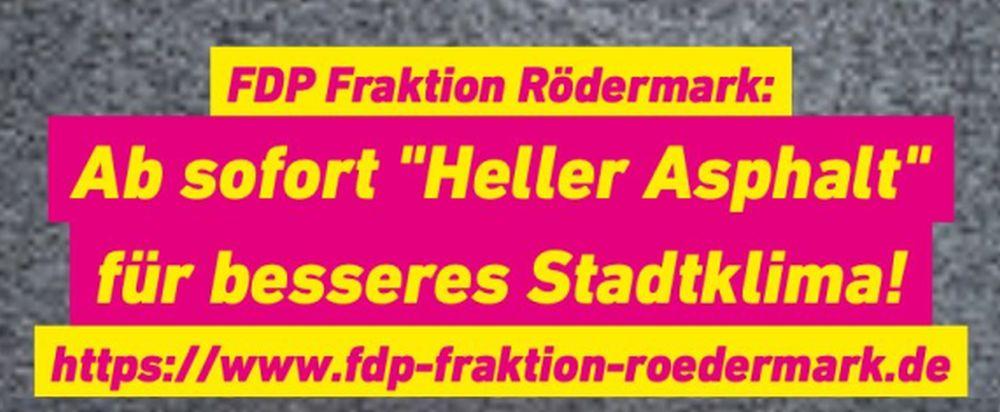 Heller Asphalt für besseres Stadtklima in Rödermark.
