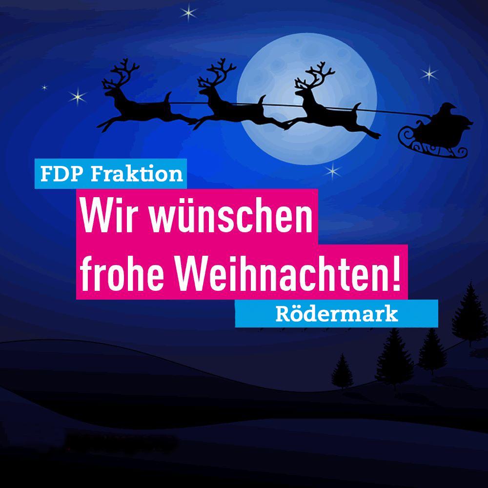 Frohe Weihnachten wünscht Ihnen die FDP Rödermark.